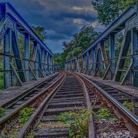Railway tracks by Stratos Lales - Transportation Railway Tracks ( old, railway, train, bridge, tracks )