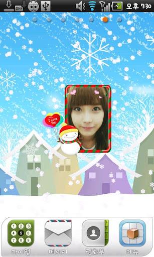 Christmas Frame Widget Third