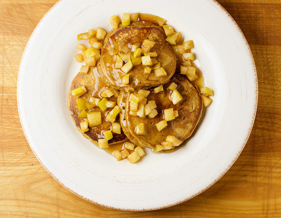 Gingerbread Pancakes with Buttered Apples Recipe | Yummly