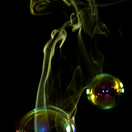 Smoke bubbles by Constantin Gabriel Bogdan - Abstract Fine Art (  )