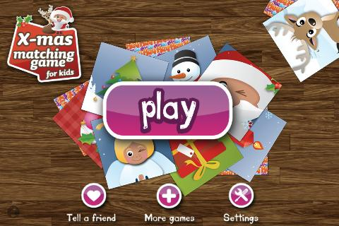 Xmas Match Game for Kids FREE