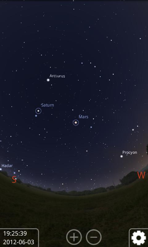 Stellarium Mobile Sky Map Screenshot 2