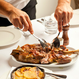Slow-cooked Lamb Shoulder With Poor-man Potatoes (ternasco Con Patatas A Lo Pobre)