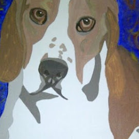 Elmer by Jessica Anderson - Painting All Painting ( dog, painting, portrait )
