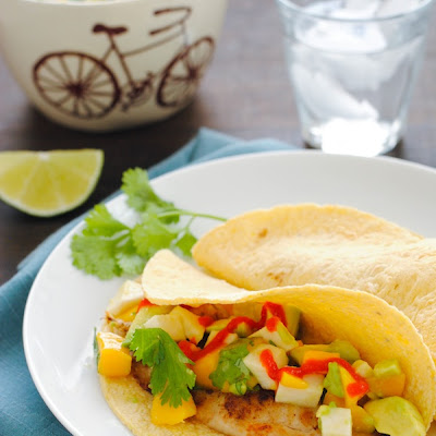 Grilled Fish Tacos with Summer Salsa