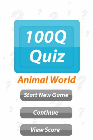 Animal World - 100Q Quiz