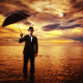 Weather Report by Glynn Lavender - People Fashion ( surrealism, strobist, men, portraits, surreal, portrait )