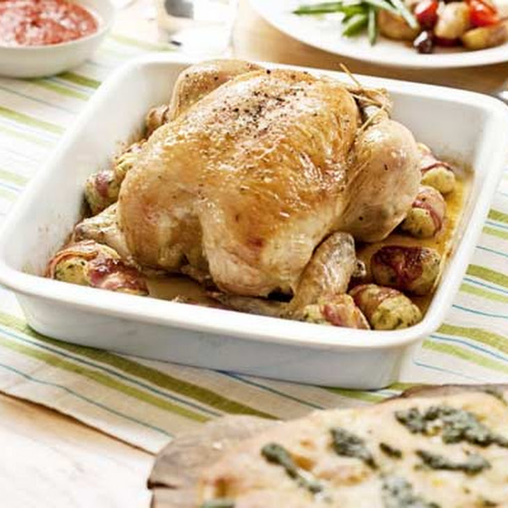 Roast Chicken With Pancetta And Olives Recipes — Dishmaps