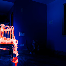 Iluminated Chair by Sudip Dutta - Artistic Objects Furniture ( ghost effect, chair, light painting, chair light painting, painting, light,  )