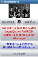 Screenshot of Beatles SoundQuiz