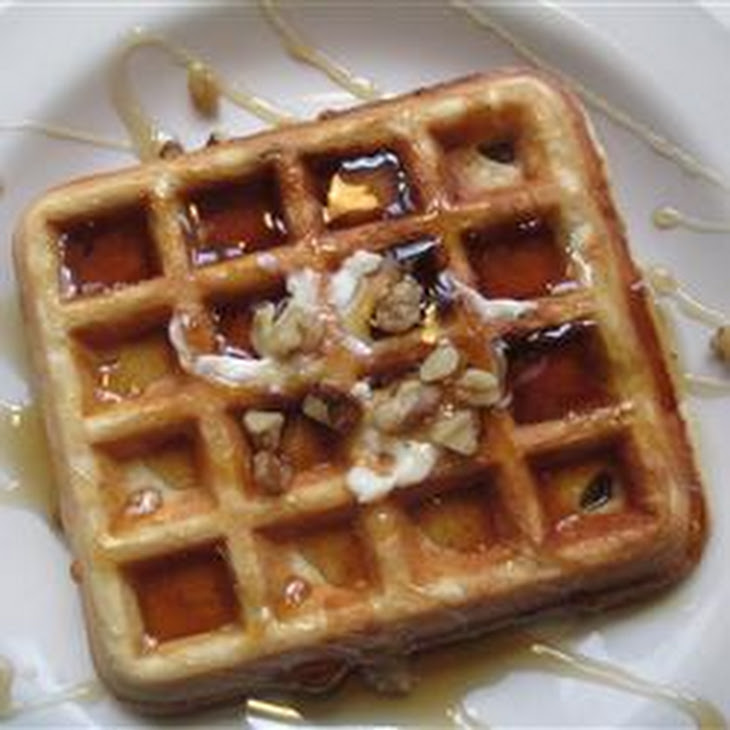 Crispy Walnut Maple Waffles Recipe | Yummly