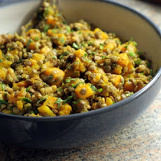 Lentils with Butternut Squash and Walnuts