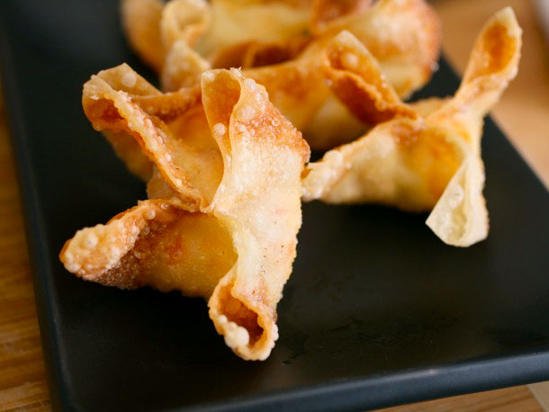 Crab Rangoons (Crab Puffs) With Sweet and Sour Sauce Recipe | Yummly