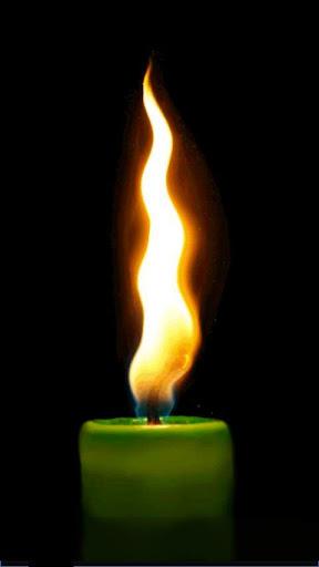 動畫虛擬的蠟燭
