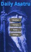 Screenshot of Daily Asatru