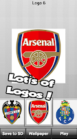 Screenshot of Football: logo puzzle quiz
