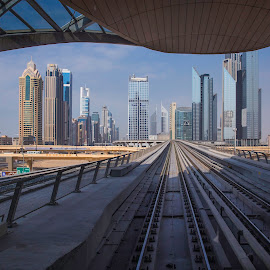 Framed City by Andy Arciga - Buildings & Architecture Office Buildings & Hotels ( canon 6d, canon 24-60 f2.8l ii, dubai, cityscape, landscape )