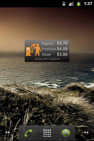 Gas price US widget