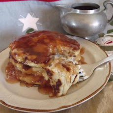 Apple Sausage Pancakes With Cider Syrup