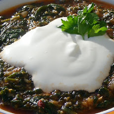 Dal With Spinach and Yoghurt