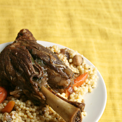 Lamb Shanks with Pomegranate and Chickpeas