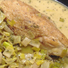 Chicken & Leeks With Creme Fraiche