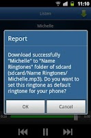 Screenshot of Name Ringtones