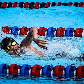 by Ray Welgosh - Sports & Fitness Swimming ( water, outdoor swimming, goggles, freestyle, swimming )