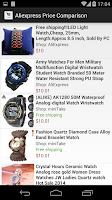 Screenshot of Aliexpress Price Comparison +