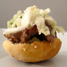 Open-Face Short Rib Sliders with Slaw Topper