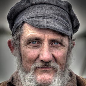Gerry by John Walton - People Portraits of Men ( cap, beard, victorian, heritagefocus, ragged )