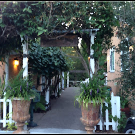 places touched by charm by Leslie Hunziker - Buildings & Architecture Other Exteriors ( inn, plants, cottages, restaurant )
