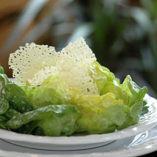 Boston Lettuce Salad with Creamy Parmesan Dressing and Parmesan Tuiles