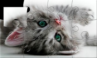 Screenshot of Cats puzzle (jigsaw)