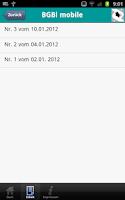 Screenshot of BGBl. mobile