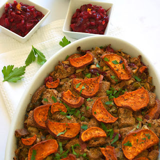 Stuffing with Sweet Potatoes & Cranberries