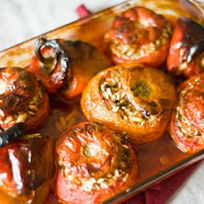 Yemista (Greek Stuffed Tomatoes and Peppers)