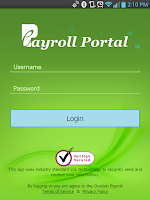 Screenshot of ePayroll Portal