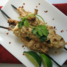 Skewered Chicken With Peanut Sauce