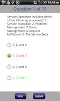 Screenshot of ITIL Exam Prep Questions