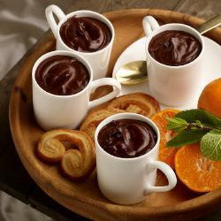 Bitter Chocolate Pots With Clementine Compote