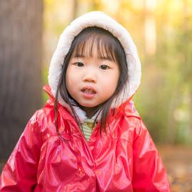 autumn breeze by Phooiyoon Lay - Babies & Children Child Portraits ( autumn leaves, children, woodland, childhood, autumn colors )