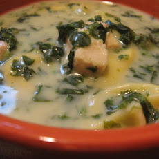 Creamy Chicken-Spinach Soup