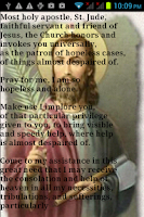 Screenshot of Prayer to St Jude