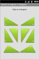 Screenshot of Cálculo de ángulos y triángulo