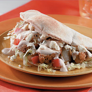 Chicken Pitas with Yogurt-Dill Sauce