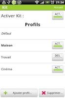 Screenshot of Kit - Profile management
