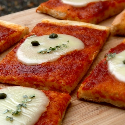 Alien Pizza Squares