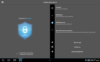 Screenshot of Camera Block - Spyware protect