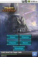 Screenshot of SWTOR News
